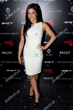 """Courtney Galiano attends the premiere of """"Stand Up Guys"""" hosted by The Cinema Society and Chrysler on in New York"""