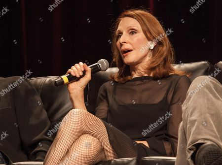 Actress Gates McFadden during the Star Trek: The Next Generation Reunion Event at the Rosemont Theatre in Rosemont, IL on