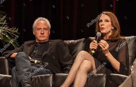 Actors Brent Spiner and Gates McFadden during the Star Trek: The Next Generation Reunion Event at the Rosemont Theatre in Rosemont, IL on