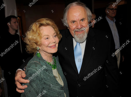 """George Schlatter, right, and Barbara Sinatra pose together at """"Still Laugh In: A Toast to George Schlatter,"""" at the Saban Theatre on in Beverly Hills, Calif"""
