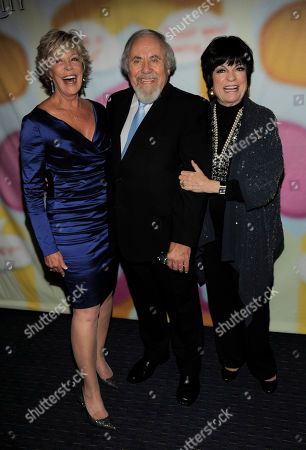 """Stock Photo of George Schlatter, center, poses with Sarah Purcell, left, and Jo Anne Worley at """"Still Laugh In: A Toast to George Schlatter,"""" at the Saban Theatre on in Beverly Hills, Calif"""