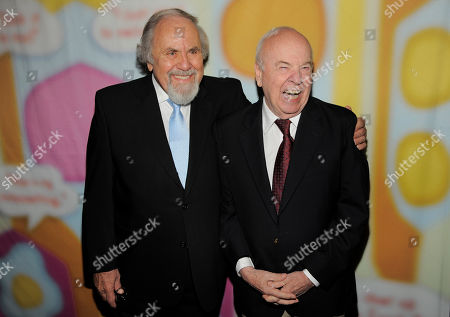 "George Schlatter, left, and Tim Conway pose together at ""Still Laugh In: A Toast to George Schlatter,"" at the Saban Theatre on in Beverly Hills, Calif"