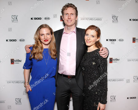 Stock Picture of Helen Estabrook, from left, Couper Samuelson and Julia Boorstin are seen at the Sony Pictures Classics Oscar Nominees Gala at Supper Suite at STK hosted by Ketel One Vodka, in Los Angeles, Calif