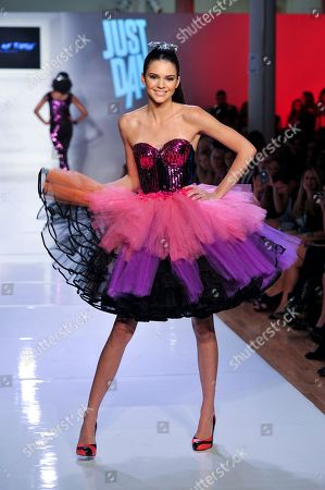 Kendall Jenner walks the runway at the Just Dance 4 show during Fashion Week, in New York