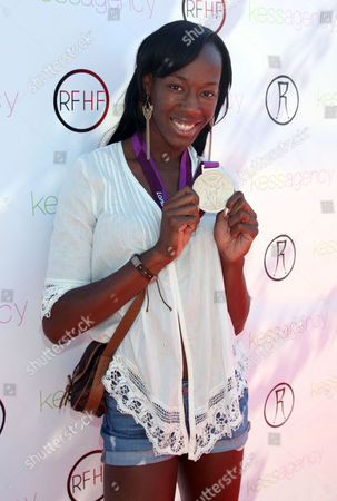 "Destinee Hooker arrives at Robi Reed's 10th Annual ""Sunshine Beyond Summer"" Celebration - The Day Party with a Purpose at the Getty House, in Los Angeles"