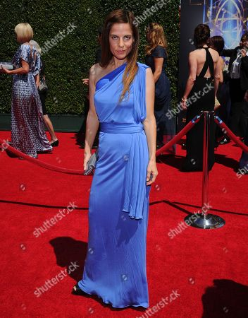 Lati Grobman arrives at the Television Academy's Creative Arts Emmy Awards at the Nokia Theater L.A. LIVE, in Los Angeles