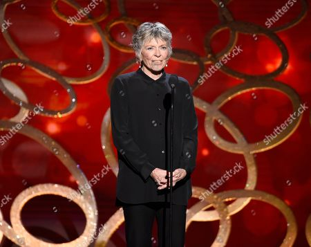 Linda Ellerbee speaks during night one of the Television Academy's 2016 Creative Arts Emmy Awards at the Microsoft Theater on in Los Angeles