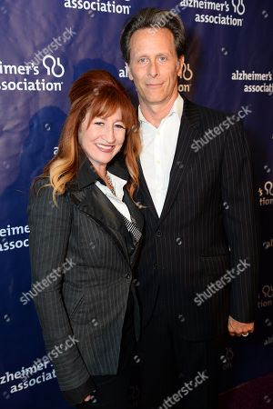 "Stock Image of Vicki Lewis, left, and Steven Weber arrive at the 22nd annual ""A Night At Sardi's"" to benefit the Alzheimer's Association at the Beverly Hilton Hotel, in Beverly Hills, Calif"