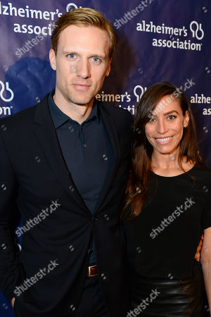 """Teddy Sears, left, and Milissa Sears arrive at the 22nd annual """"A Night At Sardi's"""" to benefit the Alzheimer's Association at the Beverly Hilton Hotel, in Beverly Hills, Calif"""