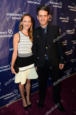 """Joey McIntyre, right, and Barrett Williams McIntyre arrive at the 22nd annual """"A Night At Sardi's"""" to benefit the Alzheimer's Association at the Beverly Hilton Hotel, in Beverly Hills, Calif"""