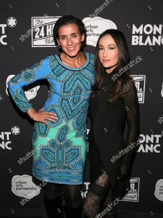 Stock Image of Director Patricia McGregor, left, and actress Maggie Q, right, attend the 24 Hour Plays on Broadway after party on in New York