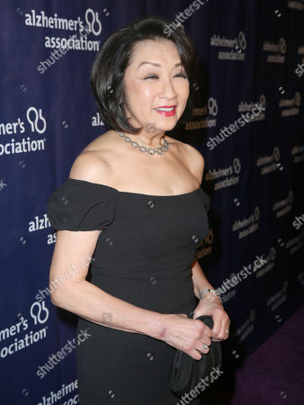 "Connie Chung arrives at the 24th annual Alzheimer's Association ""A Night at Sardi's"" at the Beverly Hilton hotel, in Beverly Hills, Calif"