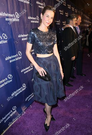 """Hayley DuMond arrives at the 24th annual Alzheimer's Association """"A Night at Sardi's"""" at the Beverly Hilton hotel, in Beverly Hills, Calif"""