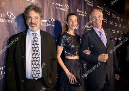 "Robert Carradine, from left, Hayley DuMond and Keith Carradine arrive at the 24th annual Alzheimer's Association ""A Night at Sardi's"" at the Beverly Hilton hotel, in Beverly Hills, Calif"