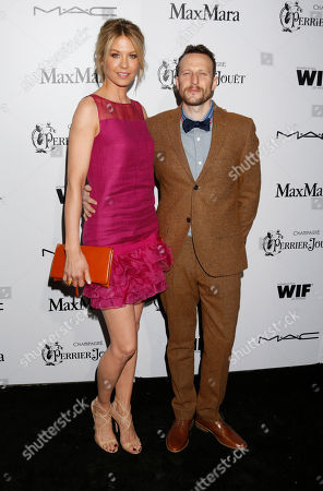 Jenna Elfman and Bodhi Elfman attend the 6th Annual Women in Film Pre-Oscar cocktail party at Fig and Olive on in Los Angeles