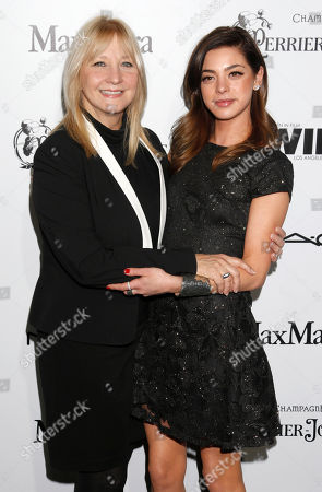 Gia Mantegna (right) and mother Arlene Vrhel attend the 6th Annual Women in Film Pre-Oscar cocktail party at Fig and Olive on in Los Angeles