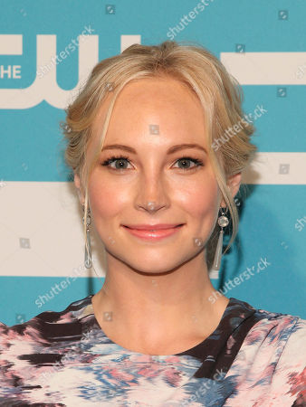 Candice Accola attends The CW Network 2015 Programming Upfront Presentation at The London Hotel, in New York