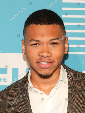 Franz Drameh attends The CW Network 2015 Programming Upfront Presentation at The London Hotel, in New York