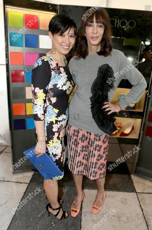 Sandra Choi, left and Merle Ginsberg attend The Hollywood Reporter & Jimmy Choo Celebration of the Most Powerful Stylists in Hollywood,, in West Hollywood, Calif