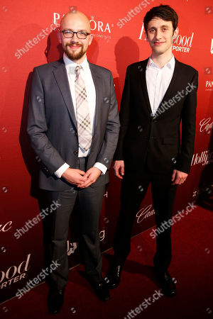 Max Lang, left, and Jan Lachauer arrive at The Hollywood Reporter Nominees Night presented by Cadillac, Bing, Delta, Pandora jewelry, Qua, and Zenith, at Spago, in Beverly Hills, Calif