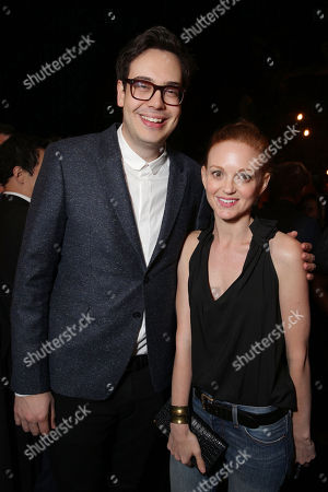 Nelson Franklin and Jayma Mays seen at The Millers Wrap Party at the Levi's Haus, on Saturday, March, 22, 2014 in Los Angeles, CA