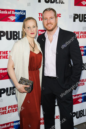 Katie Finneran and Darren Goldstein attend The Public Theater's Annual Gala at the Delacorte Theater in Central Park, in New York