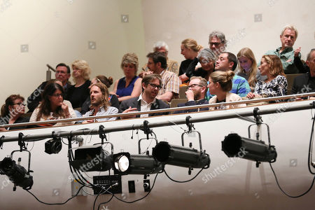 The audience during The Un-Private Collection: Eric Fischl and Steve Martin, an art talk presented by The Broad museum and held at The Broad Stage, in Santa Monica, Calif