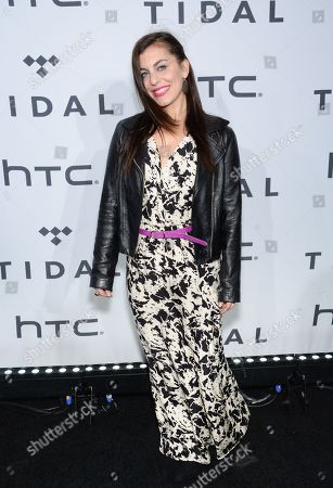 Shayna Leigh arrives at TIDAL X: 1020 Amplified by HTC at the Barclays Center, in New York