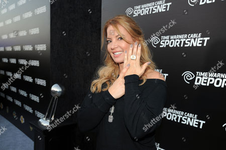 Jeanie Buss, EVP, LA Lakers arrives at the Time Warner Cable Sports launch event hosted by Time Warner Cable Sports, in Los Angeles