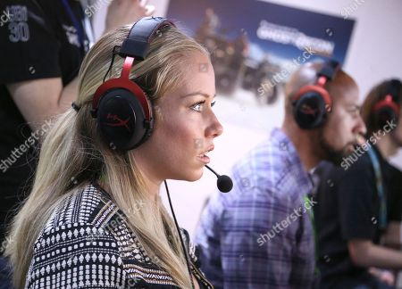 Kendra Wilkinson, left, and Hank Baskett playing Tom Clancy's Ghost Recon Wildlands at Ubisoft E3 2016 - Day 2 at the Los Angeles Convention Center, in Los Angeles