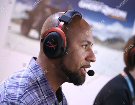 Hank Baskett playing Tom Clancy's Ghost Recon Wildlands at Ubisoft E3 2016 - Day 2 at the Los Angeles Convention Center, in Los Angeles