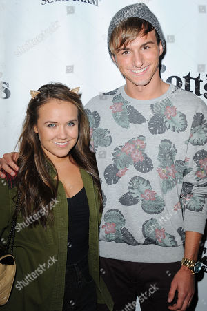 Jennifer Veal, at left, and Lucas Cruikchank attends the VIP Opening of Knotts Scary Farm HAUNT on in Buena Park, Calif