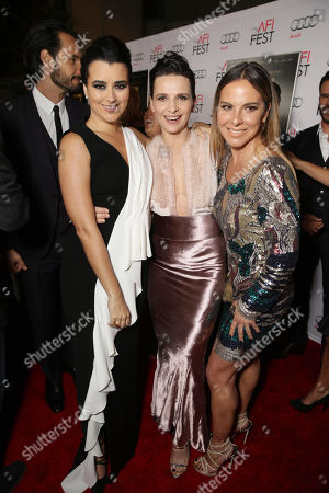 Cote de Pablo, Juliette Binoche and Kate del Castillo seen at Warner Bros. 'The 33' Gala Screening at AFI Fest 2015 at TCL Chinese Theater, in Hollywood, CA