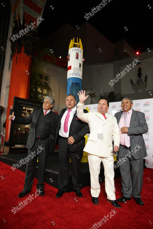 Mario Gomez, Luis Urzua, Edison Pena and Juan Carlos Aguilar seen at Warner Bros. 'The 33' Gala Screening at AFI Fest 2015 at TCL Chinese Theater, in Hollywood, CA