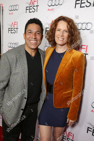 Oscar Nunez and Ursula Whittaker seen at Warner Bros. 'The 33' Gala Screening at AFI Fest 2015 at TCL Chinese Theater, in Hollywood, CA
