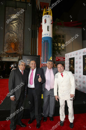 Mario Gomez, Luis Urzua, Juan Carlos Aguilar and Edison Pena seen at Warner Bros. 'The 33' Gala Screening at AFI Fest 2015 at TCL Chinese Theater, in Hollywood, CA