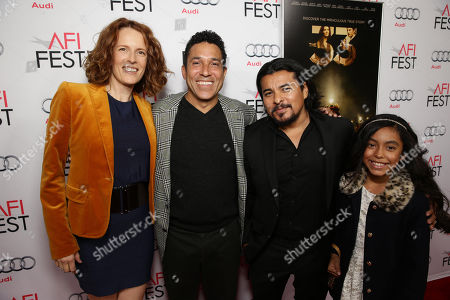 Ursula Whittaker, Oscar Nunez, Jacob Vargas and Rose Vargas seen at Warner Bros. 'The 33' Gala Screening at AFI Fest 2015 at TCL Chinese Theater, in Hollywood, CA