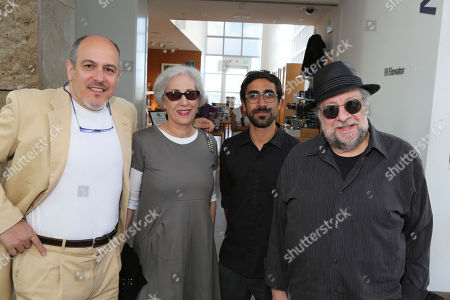"Stock Picture of From left, gallerist Steve Turner, Victoria Dailey, Pablo Rasgado and actor Ricky Jay pose during the opening of ""Hearsay Of The Soul"" filmmaker Werner Herzog's video installation at the Getty Museum, in Los Angeles, Calif"