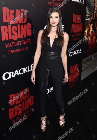 """Meghan Ory attends the world premiere of Crackle's """"Dead Rising Watchtower"""" at Sony Pictures Studios, in Culver City, Calif"""