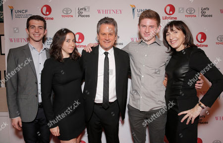 Stock Image of Executive Producer Larry Sanitsky and family attend the Premiere of Lifetime's Whitney at the Paley Center on in Beverly Hills, Calif