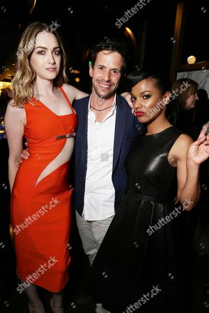 """Jamie Clayton, Christian Oliver and Freema Agyeman seen at the world premiere of the Netflix original series """"Sense8"""", in San Francisco, CA"""