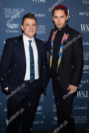 Stewart Butterfield, right, and Jared Leto attend the WSJ Magazine Innovator Awards 2015 at The Museum of Modern Art, in New York