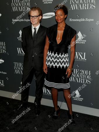 Philippe Vergne, left, and Kara Walker, right, attend the WSJ. Magazine 2014 Innovator Awards at MoMA, in New York