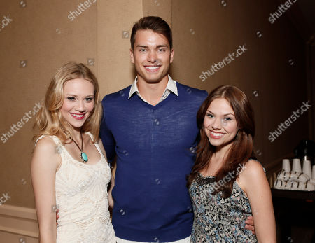 Kelcie Stranahan, Pierson Fode and Noell Coet attends the YouTube Channels AwesomenessTV and WIGS TCA Panel at the Beverly Hilton, in Beverly Hills, California