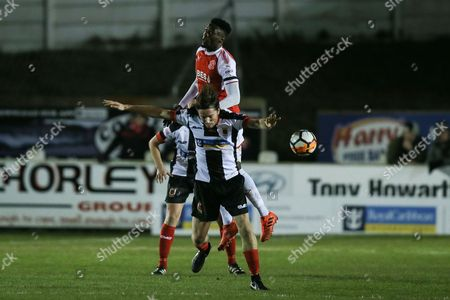 Josh Wilson of Chorley and /Devante Cole of Fleetwood Town