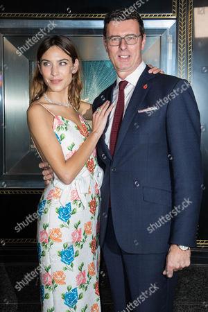 Stock Image of Alexa Chung and Barratt West, Managing Director at Tiffany & Co.
