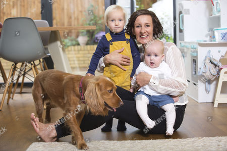 Kathryn Mewes 'The Three Day Nanny' with her children and nanny