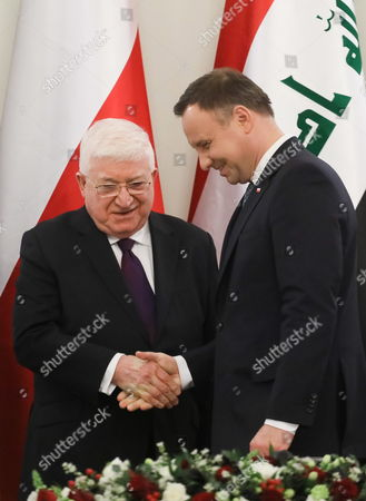 Andrzej Duda and Mohammed Fuad Masum Khader