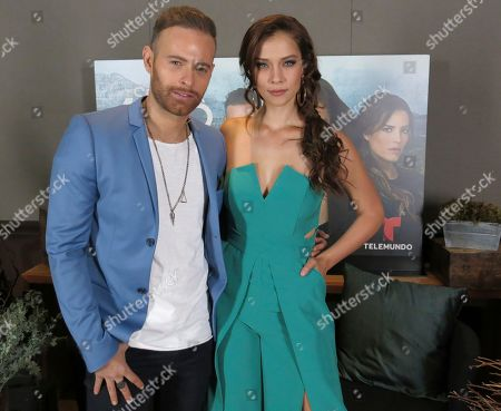 """Stock Picture of Mexican actor Luis Ernesto Franco, left, and the Mexican actress Carolina Miranda pose for a portrait in Mexico City. Franco plays the ex-agent Daniel Phillips and Miranda the human trafficker Vicenta Acero in the fourth season of the television drama """"Senora Acero."""" The fourth season of the series premieres on Nov. 6, 2017"""