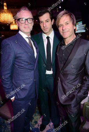 Stock Photo of Gary Kemp, Mark Ronson and Steve Norman